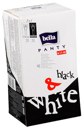 BELLA PANTI Slim Black&White 40шт. ежед. пр-ки  1/12